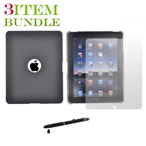 Apple iPad (1st Gen) Combo Package w/ iClooly Stylus, Screen Protector and Hard Case - Black