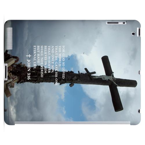 Geeks Designer Line (GDL) Bibles Series Apple iPad 2/3 Slim Hard Back Cover - John 3:16
