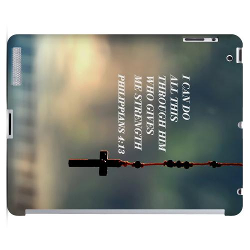 Geeks Designer Line (GDL) Bibles Series Apple iPad 2/3 Slim Hard Back Cover - Philippians 4:13