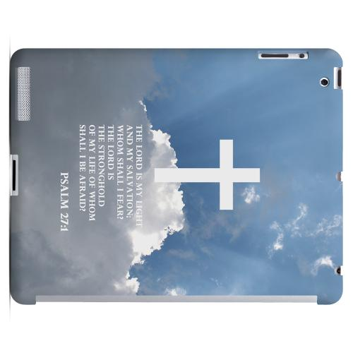 Geeks Designer Line (GDL) Bibles Series Apple iPad 2/3 Slim Hard Back Cover - Psalm 27:1