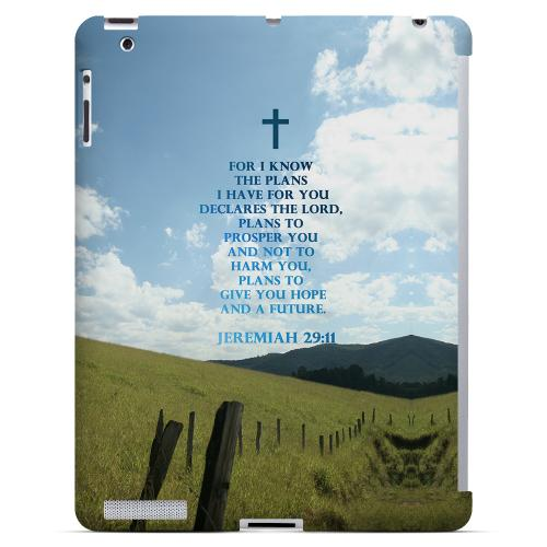 Geeks Designer Line (GDL) Bibles Series Apple iPad 2/3 Slim Hard Back Cover - Jeremiah 29:11