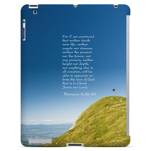 Geeks Designer Line (GDL) Bibles Series Apple iPad 2/3 Slim Hard Back Cover - Romans 8:38-39