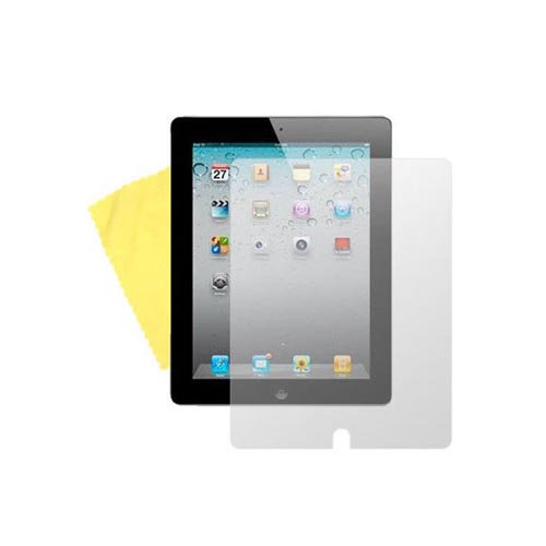 Apple iPad 2 Essential Bundle Package w/ Black Nylon Pouch w/ Pull Tab, Pink Gummy Hard Case and Anti-Glare Screen Protector