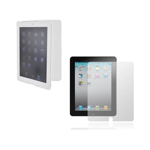 Apple iPad 2 Essential Bundle Package w/ Anti-Glare Screen Protector & White Standing Hard Case