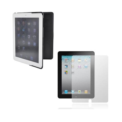 Apple iPad 2 Essential Bundle Package w/ Anti-Glare Screen Protector & Black Standing Hard Case