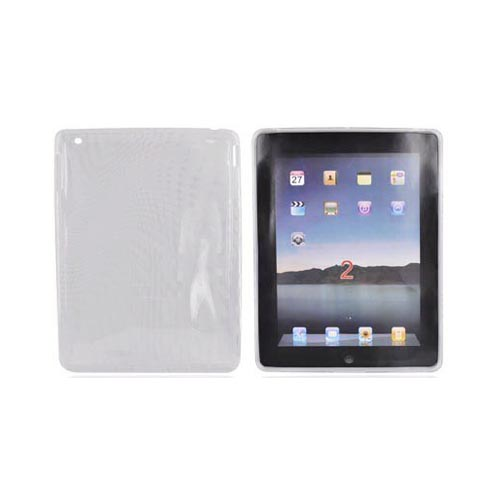 Apple iPad 2 Bundle Package w/ Clear Bubbles Crystal Silicone Case & Cellet Universal Non-Slip Tablet Stand