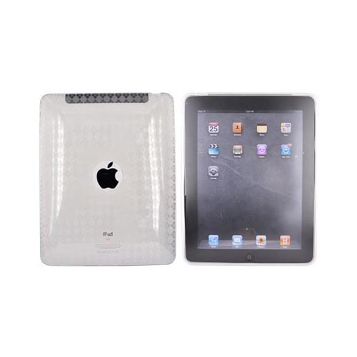 Apple iPad 1 Bundle Package w/ Clear Argyle Crystal Silicone Case & Cellet Universal Non-Slip Tablet Stand