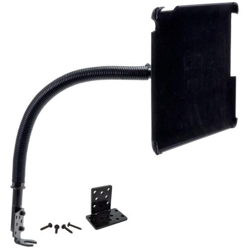 "Arkon Black iPad Air Custom Fit Mount - 18"" Car Seat Rail Mount Flex Gooseneck (IPA-CFH + GN088-SBH)"