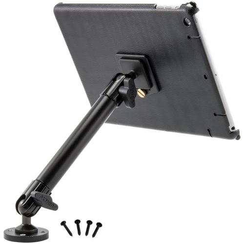 Arkon Black iPad Air Custom Fit Mount - 10in Heavy-Duty Drill Base Mount (IPA-CFH + HD005)