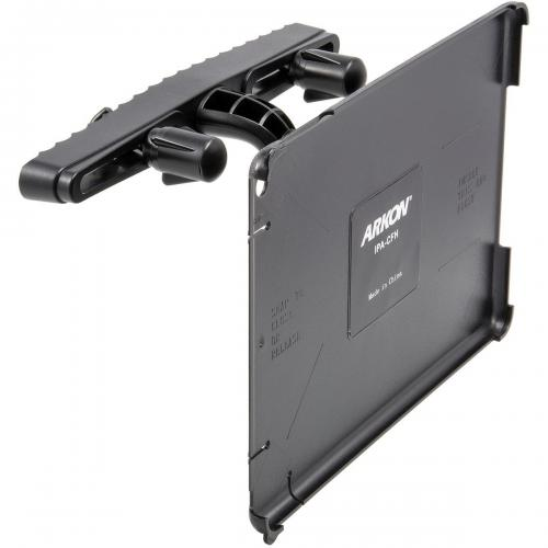 Arkon Black iPad Air Custom Fit Mount - Single Car Seat Headrest Mount (IPA-CFH + HM002-SBH)