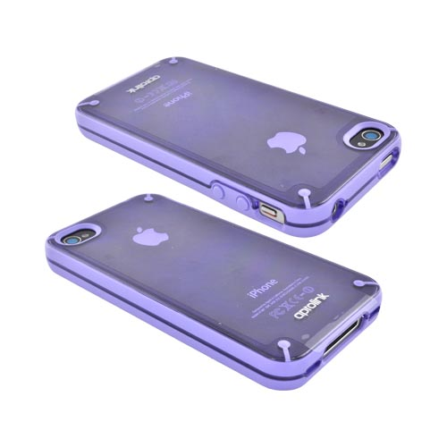 Original Aprolink AT&T/ Verizon Apple iPhone 4, iPhone 4S Fusion Dual Shell Hard Case, IPF-406-03 - Lavender/ Transparent Purple