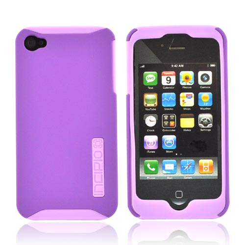 Original Incipio Apple Verizon/ AT&T iPhone 4, iPhone 4S Silicrylic Dual Protection Hard Case on Silicone w/ Screen Protector, IPH-508 - Purple/Lavender