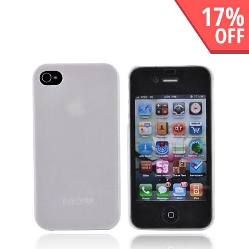 Original Incipio Feather Apple iPhone 4 Ultra Thin Hard Case w/ 2 Screen Protector, IPH-517 - Tonic Gloss White