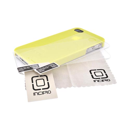 Incipio Lemon Lime Green Feather Series Hard Case w/ 2 Screen Protectors for Apple iPhone 4/4S - IPH-521