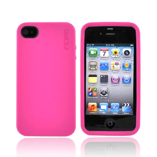 Original Incipio NGP Apple iPhone 4 Impact Soft Shell Case w/ Screen Protector, IPH-528 - Matte Fuchsia Magenta