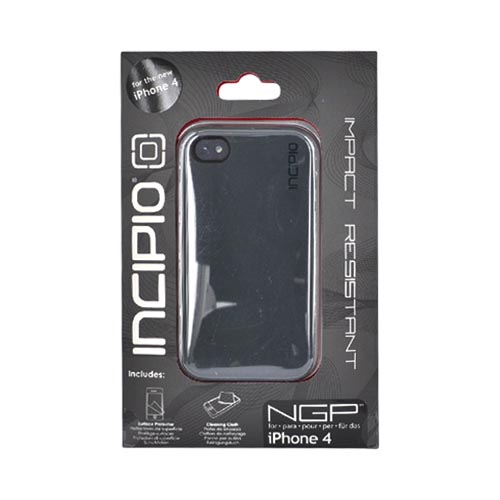 Original Incipio NGP Apple iPhone 4 Impact Soft Shell Case w/ Screen Protector, IPH-530 - Gun Metal Gray