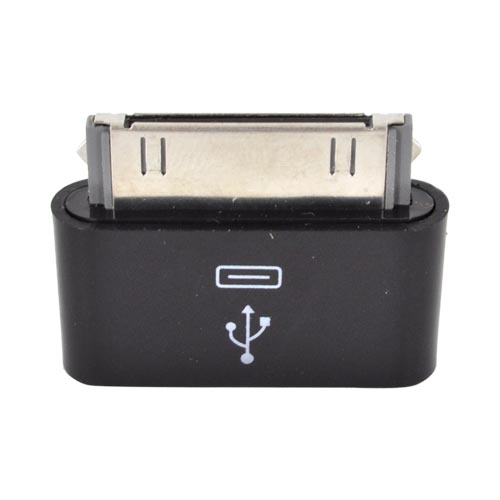 Universal Micro USB to Apple iPad/ iPhone/ iPod Adapter (5 pin to 30 Pin) - Black