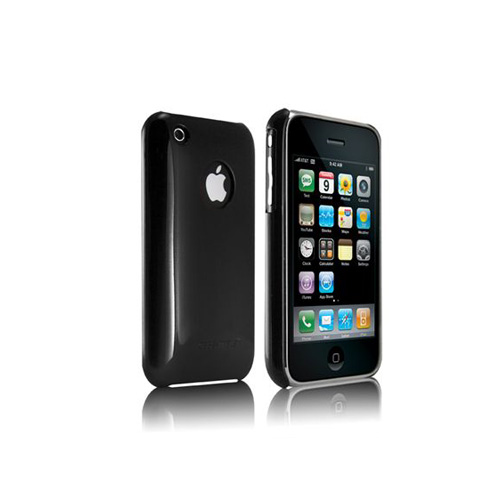 Original Case-Mate Apple iPhone 3G Barely There Case w/ Invisible Film - Black