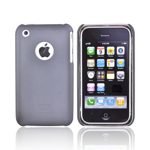 Original Case-Mate Apple iPhone 3G 3GS Barely There Rubberized Back Cover Case, IPH3GBTX-GRY - Gray