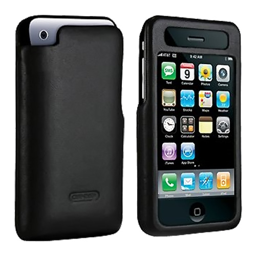 Original Case-Mate iPhone 3Gs 3G Signature Leather Hard Case, IPH3GC-PB - Black