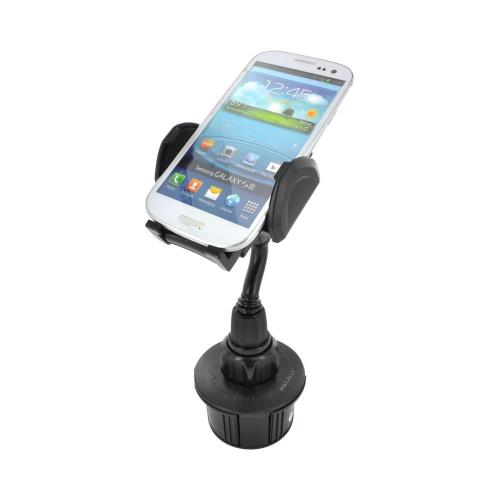 Apple iPhone 4 Bundle Package - Headset Adapter w/ Microphone & Answer/End Button, Macally Cup Holder Mount & Car Charger - (Roadster Combo)