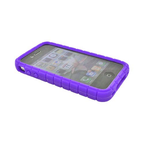 Original Speck Apple iPhone 4 Pixelskin Silicone Case - Pixel Square Texture Purple