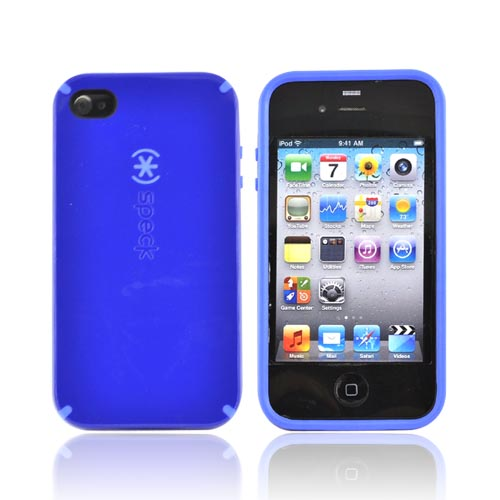 Original Speck Apple iPhone 4 Hard Candy Shell Hard Case, IPH4CNDY-A17A16 - Blue