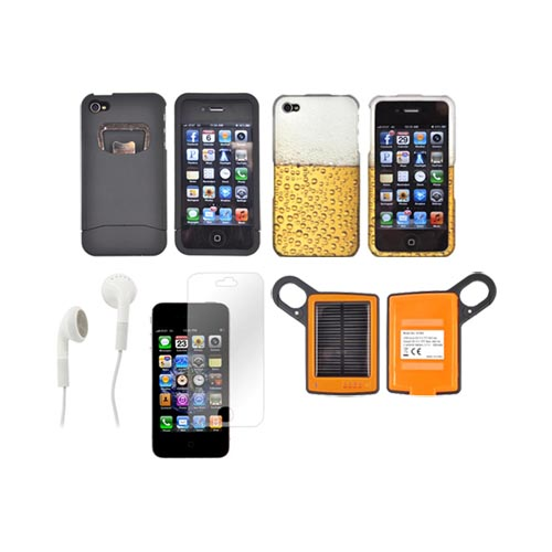 At&t/ Verizon Apple Iphone 4, Iphone 4s Summer Combo Package W/ Dicapac Waterproof Phone Case, Anti-glare Screen Protector and more!