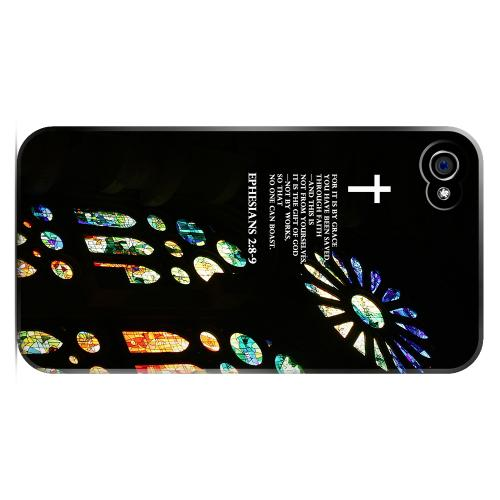 Geeks Designer Line (GDL) Bibles Series Apple iPhone 4 Matte Hard Back Cover - Ephesian 2:8-9