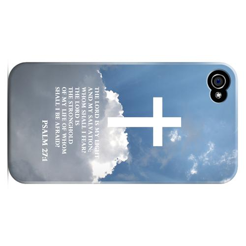 Geeks Designer Line (GDL) Bibles Series Apple iPhone 4 Matte Hard Back Cover - Psalm 27:1