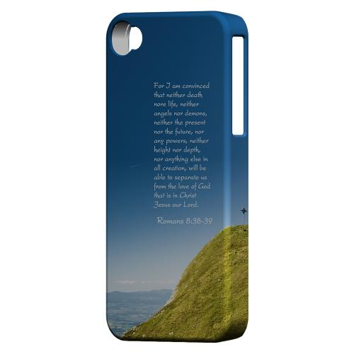 Geeks Designer Line (GDL) Bibles Series Apple iPhone 4 Matte Hard Back Cover - Romans 8:38-39
