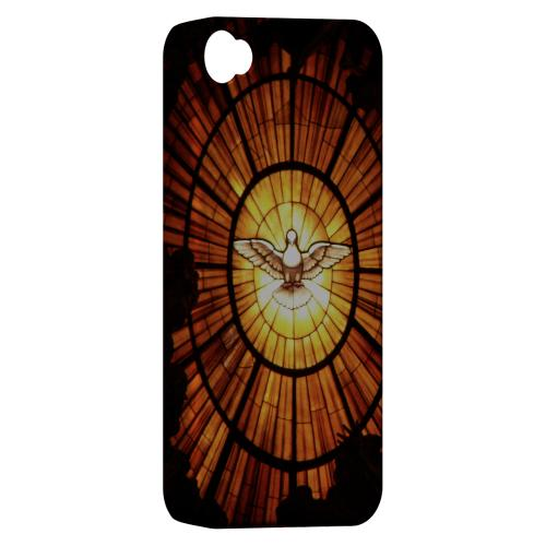 Geeks Designer Line (GDL) Bibles Series Apple iPhone 4 Matte Hard Back Cover - Holy Spirit Glass