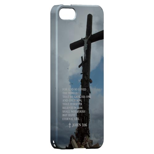 Geeks Designer Line (GDL) Bibles Series Apple iPhone 5 Slim Hard Back Cover - John 3:16
