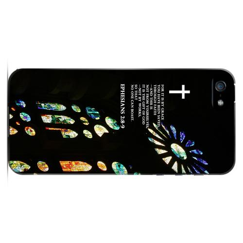 Geeks Designer Line (GDL) Bibles Series Apple iPhone 5 Slim Hard Back Cover - Ephesians 2:8-9