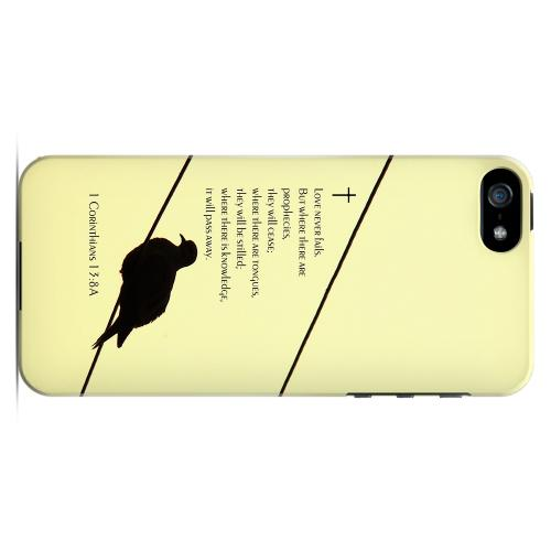 Geeks Designer Line (GDL) Bibles Series Apple iPhone 5 Slim Hard Back Cover - 1 Corinthians 13:8A