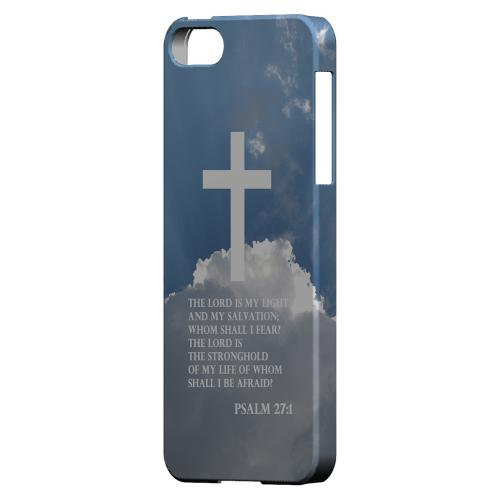 Geeks Designer Line (GDL) Bibles Series Apple iPhone 5 Slim Hard Back Cover - Psalm 27:1
