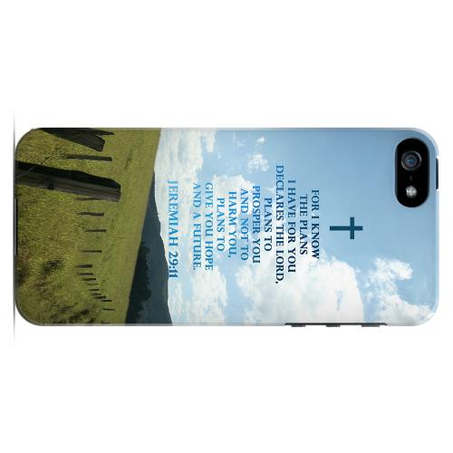 Geeks Designer Line (GDL) Bibles Series Apple iPhone 5 Slim Hard Back Cover - Jeremiah 29:11