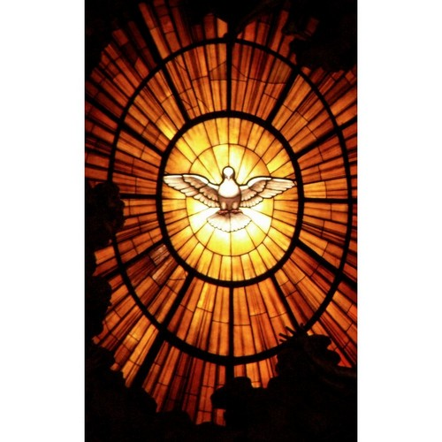 Geeks Designer Line (GDL) Bibles Series Apple iPhone 5 Slim Hard Back Cover - Holy Spirit Glass