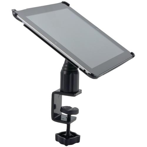 "Arkon Black iPad 4 Mount - 4"" Heavy Duty C-Clamp Mount with iPad 3 and 2 Custom Holder (IPM3-CFH + GN085-SBH)"