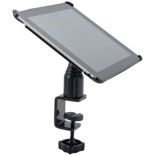"Arkon Black iPad 4 Mount - 4"" Heavy Duty C-Clamp Mount with iPad 3 and 2 Custom Holder (IPM3-CFH + GN086-SBH)"