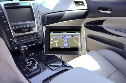 "Arkon Black iPad 4 Mount - 18"" Seat Rail / Floor Mount with Custom iPad 3 & 2 Holder (IPM3-CFH + GN088-SBH)"