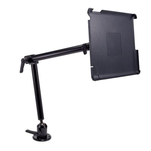 "Arkon Black iPad 4 Mount - Heavy Duty 22"" 4 Hole Drill Base Mount with Custom iPad 3 and 2 Holder (IPM3-CFH + HD003)"