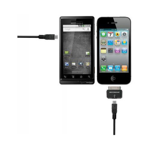 Original Scosche syncABLE Pro Universal Apple iPad/ iPhone/ iPod & Micro USB to USB Charge & Sync Cable Kit, IPMA - Black