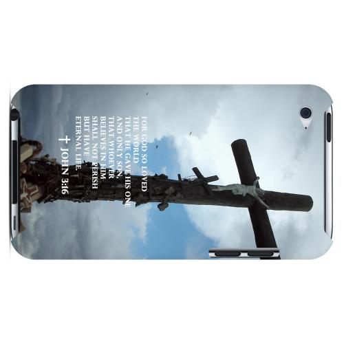 Geeks Designer Line (GDL) Bibles Series Apple iPod 4 Slim Hard Back Cover - John 3:16