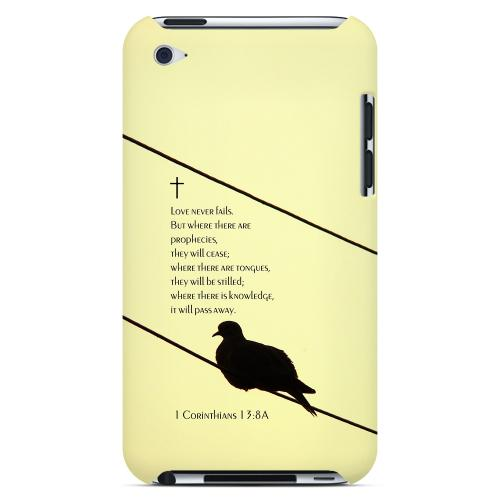 Geeks Designer Line (GDL) Bibles Series Apple iPod 4 Slim Hard Back Cover - 1 Corinthians 13:8A