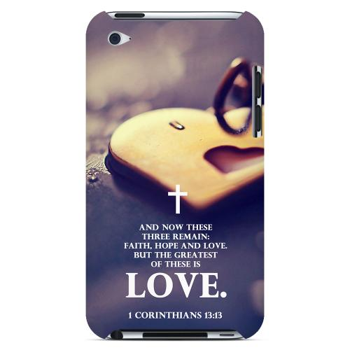 Geeks Designer Line (GDL) Bibles Series Apple iPod 4 4 Slim Hard Back Cover - 1 Corinthians 13:13