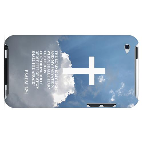 Geeks Designer Line (GDL) Bibles Series Apple iPod 4 Slim Hard Back Cover - Psalm 27:1