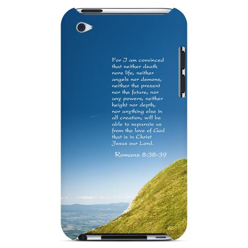 Geeks Designer Line (GDL) Bibles Series Apple iPod 4 Slim Hard Back Cover - Romans 8:38-39