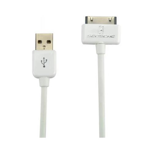 Original Scosche syncABLE Universal Apple iPad/ iPhone/ iPod Charge & Sync Cable, IPUSB2 - White