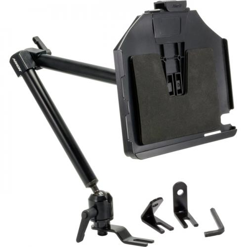 "Arkon Black iPad Custom Fit Mount - (IPMX-CFH + HD001) 22"" Heavy Duty Seat Rail / Floor Mount"